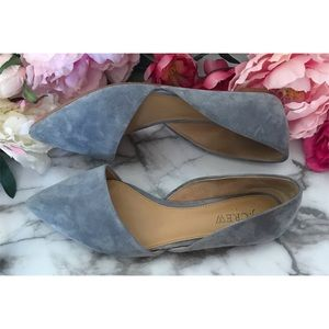 J. Crew Factory Zoe Suede Leather d'Orsay Flats 7